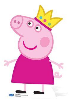 Princess Peppa Pig Cardboard Cutout / Standup / Standee - Available now at Starstills Chuck Peppa Pig Pinata, Cumple Peppa Pig, Peppa Pig Birthday Cake, Peppa Pig Pictures, Tortas Peppa Pig, Sticker Printable, Peppa Pig Stickers, Peppa Pig Printables, Peppa Pig Cartoon