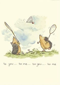 To You To Me. Such a cute little illustration.