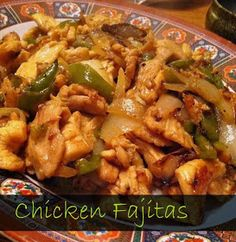 Sugar for Breakfast: Chicken Fajitas