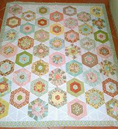 Cape Pincushion: Curio Jelly Roll Hexagon Quilt Tutorial