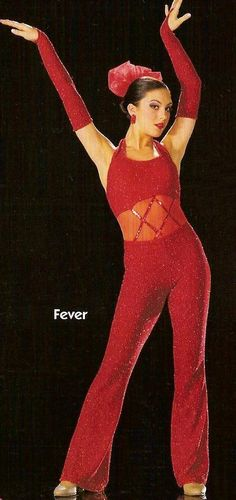 Fever Dance Costume Glitter Leotard & Pants No Mitts Tap Adult X-Large & Child M