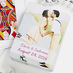 Our Wedding Personalized Photo Playing Cards