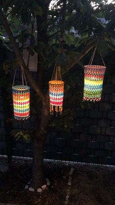 Crochet Lamp, Crochet Home Decor, Summer Garden, Bunt, Crochet Projects, Dyi, Garland, Lanterns, Diy And Crafts
