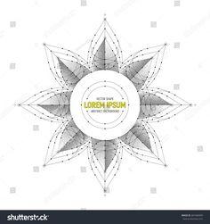 Vector Geometric Symbol Art Illustration Isolated on White Background | sacred, symbol, logo, icon, magic, esoteric, mandala, geometric, spiritual, vector, abstract, background, shape, grey, monochrome, white, line, art, illustration, texture, object, 3d, deco, decorative, symmetry, design, element, dotted, stipple, fractal, medallion, pattern, kaleidoscope, mistery, mystic, star, tattoo, sign, round, segment, emblem, harmony, sketch, direction, frame, lotus, yoga, petal, flower, sun