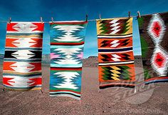 Native American Rugs in bright colors.