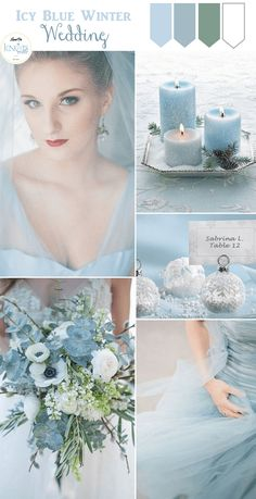 Icy Blue Winter Wedding Inspiration » KnotsVilla