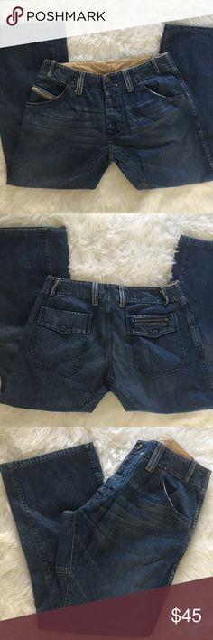 "Diesel Jeans Diesel Brand Bootcut Jeans. Like new! Size 34X30. Lots of detail and great quality & design that Diesel is known for. 17"" across at waist laying flat. 10"" rise. Inseam is 30"". Unisex. Diesel Jeans"