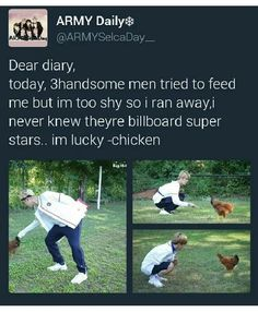 BTS | I never wanted to be a chicken more in my life.