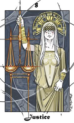 11 - XI - Giustizia - Justice - 8 - VIII - equilibrio o bilancia o maat o piuma . Justice Tarot, Tarot Tattoo, Red Rising, Lady Justice, Major Arcana, Oracle Cards, Tarot Decks, Archetypes, Tarot Cards