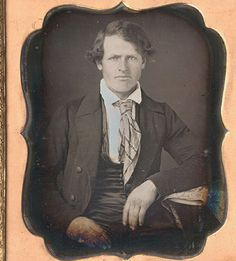 american, late 1840's, Daguerreotype Photograph tie-like cravat