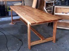 Beginner Farm Table (2 Tools + $50 Lumber) | Ana White 2x4 Table, Diy Dining Table, Rustic Table, Patio Table, Picnic Table, Farm Table Plans, Farm Table With Bench, Build A Farmhouse Table, Farm Tables