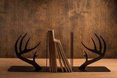 Metal Art Deer Antler Bookends on BourbonandBoots.com