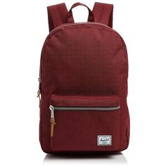 Herschel Supply Co. Settlement Mid Volume Backpack ($63) ❤ liked on Polyvore featuring bags, backpacks, backpack, leather travel bag, genuine leather backpack, red leather bag, leather backpack and herschel supply co backpack