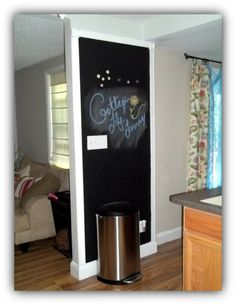 I can't remember how much wall space is on the wall with the doors or the wall closest to the kitchen, but if there is small space to use chalkboard paint that is kind of cool and is a space where Emma and Kellan can draw