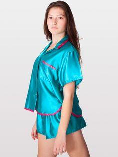 Satin Charmeuse Pajama Set | Sleepwear | Women's Lingerie | American Apparel