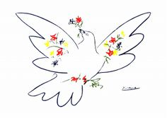 パブロ・ピカソ『花と鳩』                                                       …