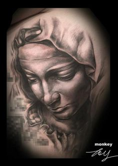 Madonna and child michelangelo tattoo