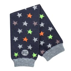 BabyLegs Shooting Star legwarmers - gray with star print - New for Fall 2012!