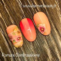 #nailart #flower #ombre #summer @ramunedambrauskiene #karmenbeauty