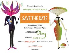 Save the Date - WITS (Writers In THe Schools) Gala will be Nov. 8, 2012! Mark Doty, National Book Award Winners, Save The Date, Writers, Schools, Houston, Dating, Books, Art