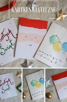DIY 3 Proste kartki świąteczne // Christmas cards  Origami Frog - kreatywny blog diy, zrób to sam