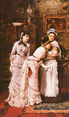 Baby's Visitors Mihály Munkácsy 1870s Fashion, Victor Vasarely, Fashion Painting, Old Master, Western Art, Art Reproductions, Cool Art, Awesome Art, View Image