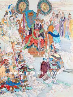 monkey king 09 Japanese Prints, Japanese Art, The Legend Of Monkey, The Holy Mountain, Journey To The West, Chinese Mythology, Chinese Landscape, Monkey King, Thai Art
