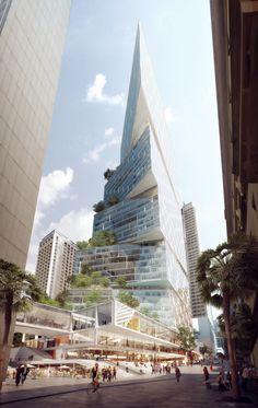 Imagem 1 de 13 da galeria de 3XN recebe aprovação pra construir torre de 200 metros em Sydney. Fotografia de 3XN