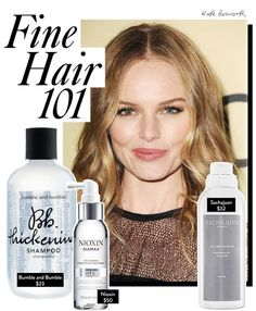 "Fine Hair Tips: Get thicker hair with these ""miracle products"" and easy styling tricks. Kiss your fine, flat 'do goodbye."