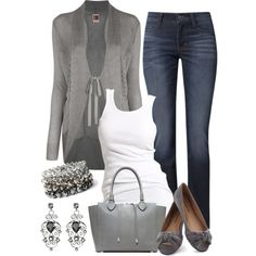 Dressy Casual Grays, created by smores1165 on Polyvore