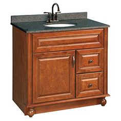 Design House 538553 36Inch by 21Inch Montclair Fully Assembled 1 Door2 Drawer Vanity Chestnut -- Click image for more details.