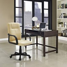 Free 2-day shipping. Buy Mainstays Tufted Leather Mid-Back Rolling Office Chair at Walmart.com Reclining Office Chair, Swivel Office Chair, Mesh Office Chair, Desk Chair, Office Chairs, Rolling Office Chair, High Back Office Chair, Rolling Desk, Adjustable Office Chair