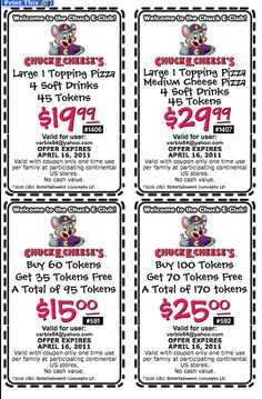 image about Gatti Town Coupons Printable called Pinterest