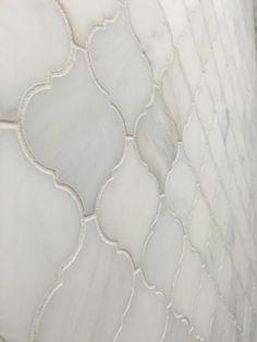Venato Carrara Moroccan Arabesque Marble Mosaic   Kitchen & Bathroom