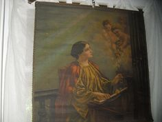 Stunning Large Antique Oil  Painting on Canvas of by JUNKMANSGAL ENTIRE STOCK 15 % OFF INCLUDING ALL  ANTIQUES..! etsy.com/shop/junkmansgal