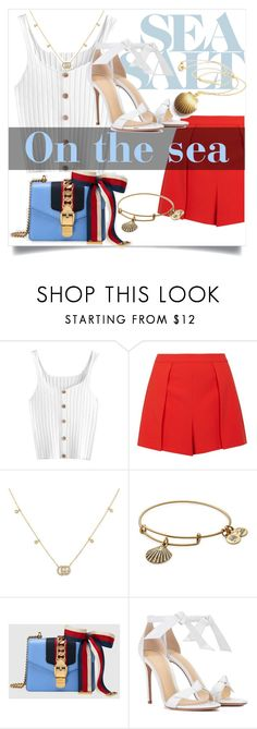 """""""Yacht outfit"""" by erika-seppalat ❤ liked on Polyvore featuring Alice + Olivia, Gucci, Alex and Ani and Alexandre Birman"""