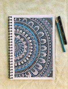 Mandala Art Therapy, Mandala Art Lesson, Mandala Artwork, Mandala Painting, Mandala Drawing, Design Art Drawing, Doodle Art Drawing, Mandela Art, Doodle Art Designs