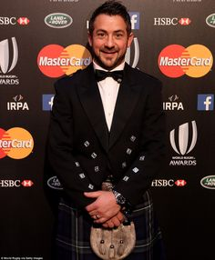 Scotland captain Greig Laidlaw, who was a star of the Rugby World Cup, poses in a kilt for the event on Sunday night Greig Laidlaw, Scottish Rugby, Sonny Bill Williams, After Running, Rugby World Cup, Rugby Players, Older Men, American Football, Hot Boys