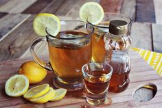 A Beautiful Mess website shares how to make a sweet tea hot toddy recipe. I remember my grandparents always talking about drinking a hot toddy during the Winter Drinks, Holiday Drinks, Fun Drinks, Yummy Drinks, Holiday Recipes, Tea Recipes, Alcoholic Drinks, Festive Cocktails, Hot Toddy