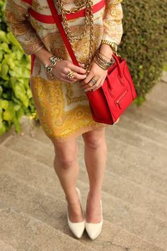 cute red bag outfit