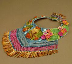 Hawaii Theme Bead Embroidery Collar Aloha by ErikawithaKDesigns, $775.00