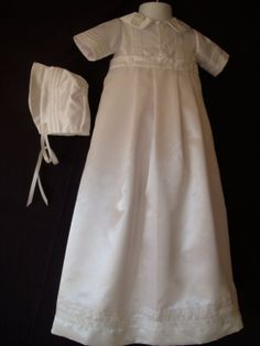 Baby Boys' Shantung Christening Gown/Romper by Sewingbyquicatos, $119.99