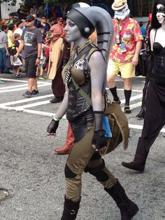 Twi'lek- This is my lovely friend Jana in her awesome Twi'lek costume for Dragon Con. Photographer unknown.