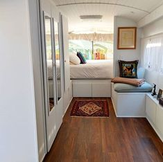 Planning a school bus conversion? Take a look at these famous converted bus homes (skoolies) to draw inspiration and build one of your own. Tiny House Plans, Tiny House On Wheels, House Floor Plans, Most Comfortable Couch, School Bus Tiny House, Converted School Bus, Tiny House Living, Bus Living, Small Living