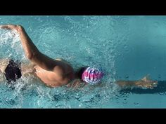 Keeping your face in the water is sometimes difficult, but this i the smoothest freestyle stroke I've seen.