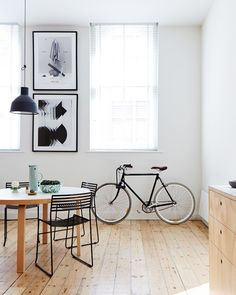 the light (and storing your bike in the kitchen)