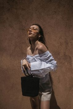 Jacquemus Off The Shoulder with Simon Miller bonsai bag editorial Marrakech summer holiday outfit fashion blogger photography