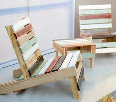 Comment fabriquer un fauteuil en palette pour personnaliser son espace - Pallet Patio Furniture, Recycled Furniture, Wood Furniture, Antique Furniture, Furniture Ideas, Pallet Chairs, Pallet Bench, Luxury Furniture, Garden Furniture