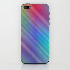 Multicolored lines no. 4 iPhone & iPod Skin by Christine baessler - $15.00
