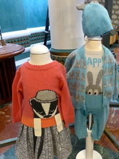 Graphic animal sweaters and fleece prints for The Bonnie Mob for fall 2015